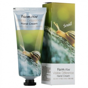 Крем для рук УЛИТКА Farm stay visible differerce hand cream snail